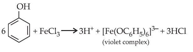 Ferric chloride test