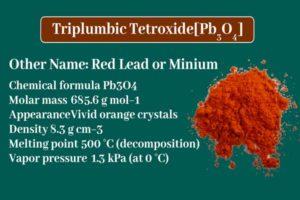 How do you make lead tetroxide? Red Lead or Minium